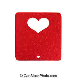 white heart shape cut on metallic paper color, card valentine texture flower design, isolated background