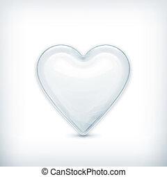White heart, vector icon