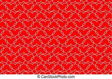 White heart vector pattern