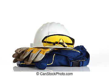white helmet safety equipment