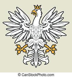 White heraldic eagle