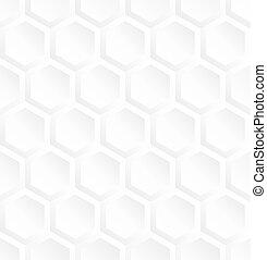 White hexagon seamless pattern
