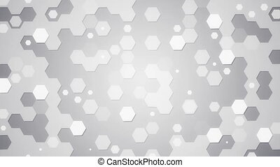 white hexagons loopable background
