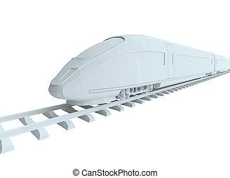 White high-speed train