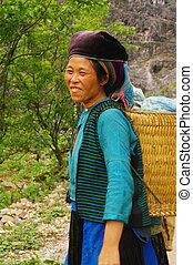 White Hmong ethnic woman - White Hmong Woman's region of Ha...