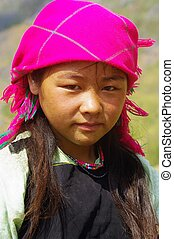 White Hmong Girl portrait - Portrait of a White Hmong girl...