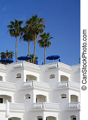 White holiday apartments