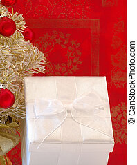 White Holiday Gift Package