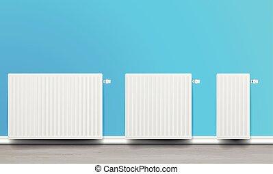 white home radiators