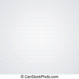 White honeycomb on gray background