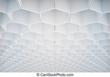 White honeycomb pattern - Abstract white honeycomb/hexagon...