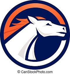 white horse logo circle vector