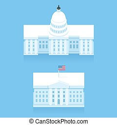 White House and Capitol building
