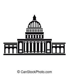 White house icon , simple style
