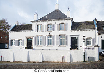 white house in Thorn, netherlands - large white building in ...