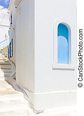 white house in Tinos Island, Greece