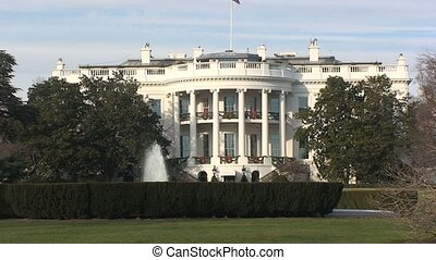 White House in Washington D.C. with Fountain