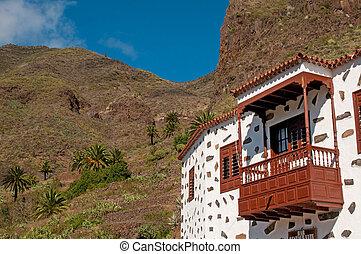 White house on Lanzarote island