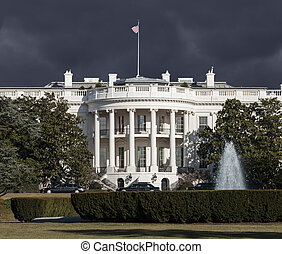 White House Storm Sky - White House with storm sky in...