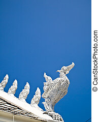 White Hussadee gable apex in Traditional Thai style1