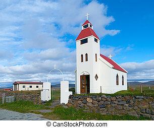 White icelandic church