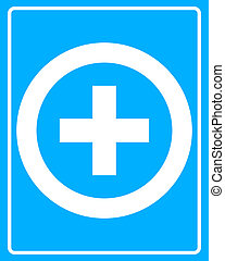 white icon Medical cross