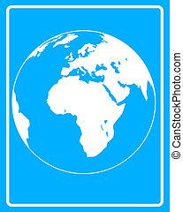 white icon Planet Earth