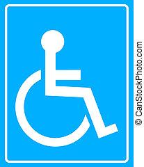 white icon wheelchair