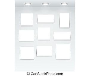White illuminated boards