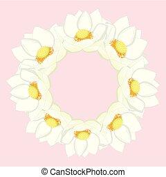 White Indian lotus Wreath