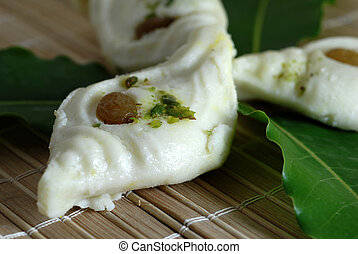White Indian Sweets made from milk