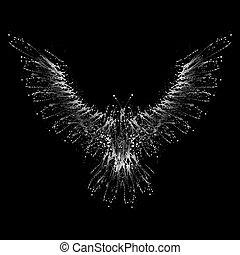 White ink blots phoenix