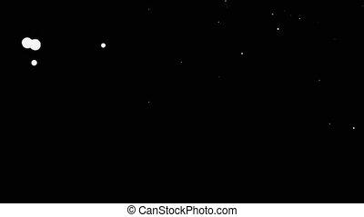 White Ink Splatter Over Black Screen Background