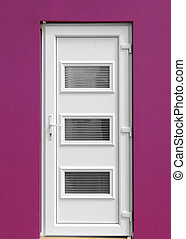 White inside door