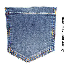 blue jeans back side pocket