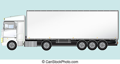 Isolated modern truck