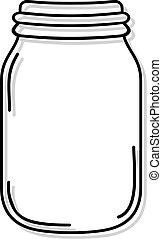 white jar - creative draw of white jar