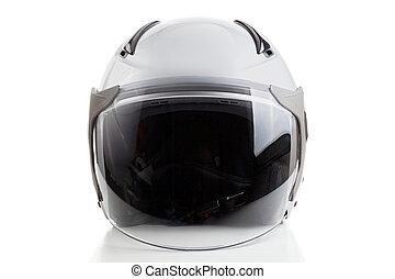 White jet fighter style helmet