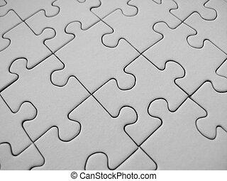 White jigsaw - Jigsaw background close-up
