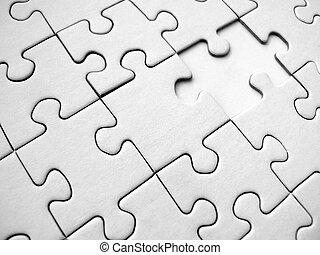 White jigsaw pattern (conceptual)