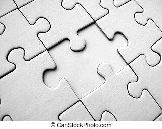 White jigsaw puzzle pattern