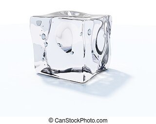 white köb, elszigetelt, jég