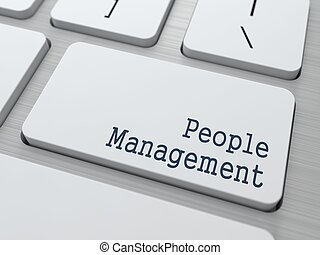 White Keyboard with People Management Button.