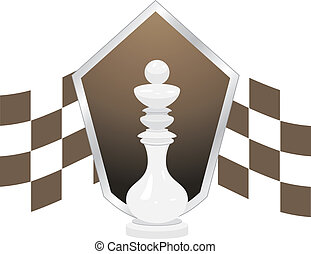 White king. Chess icon. Vector illustration