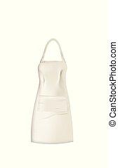 White kitchen apron
