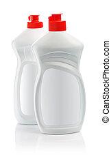 white kitchen bottles