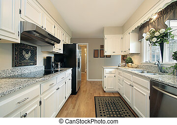 White kitchen in suburban home