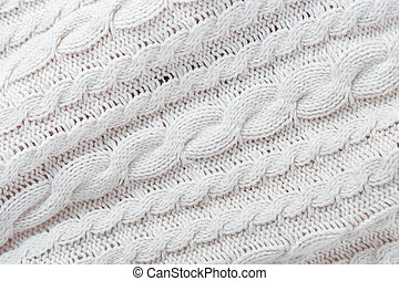 White knit fabric background - White knit fabric texture and...