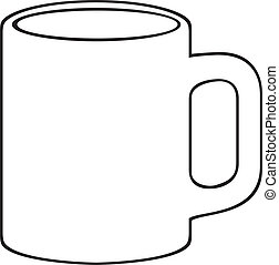 (white, koffie mok, cup)