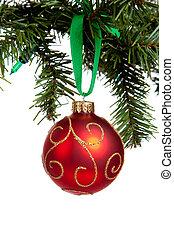 white labda, karácsony, redglittery